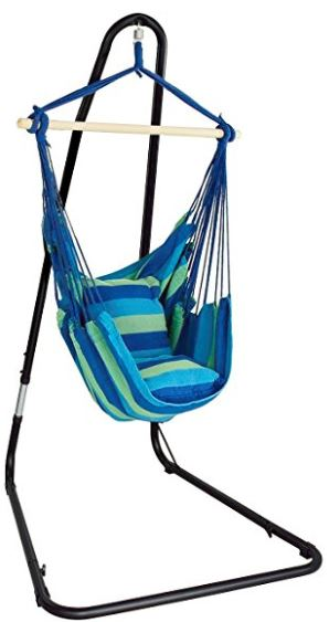 Hanging Rope Hammock with Stand
