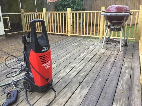 Electric Power Washer for Wood Deck