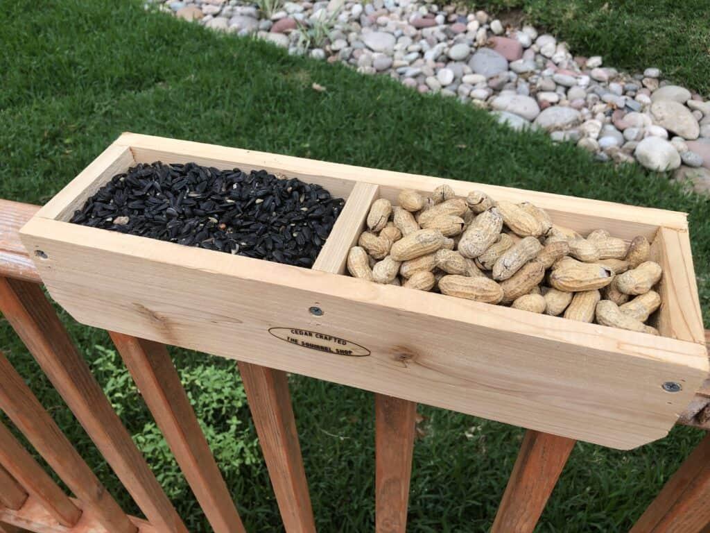 Rail Bird Feeder With Seed