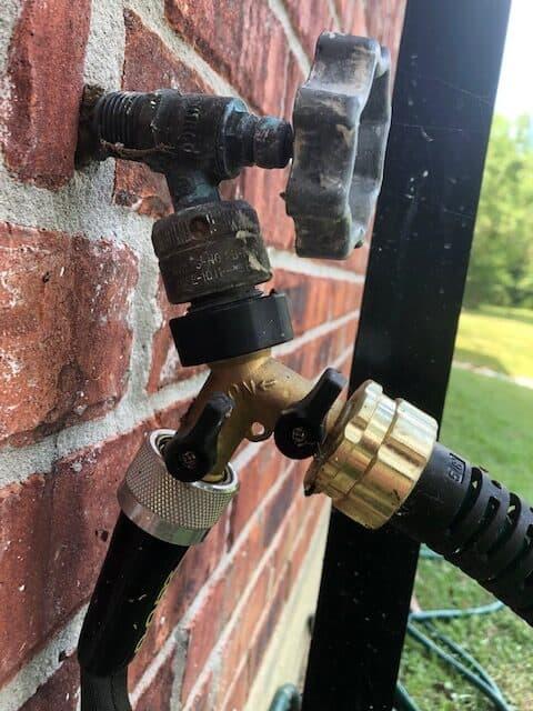 Water Splitter for Two Sprinklers
