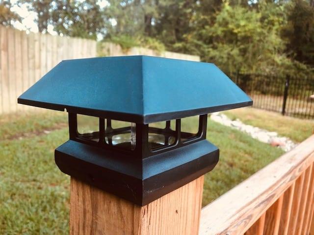 7 Lumen Solar Deck Post Light